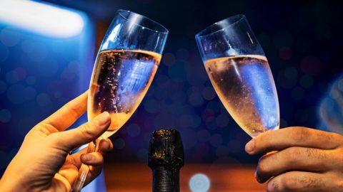 シャンパン乾杯
